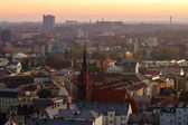 Kostel Ostrava v době západu slunce, Česká republika