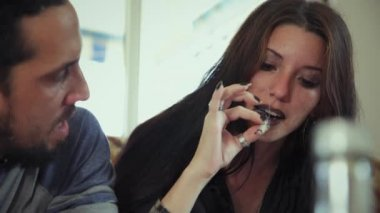Drug Addicted Sharing Marijuana Cigarette People Smoking Hashish Joint