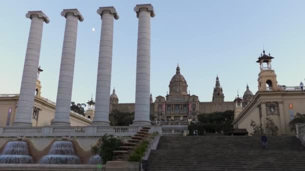 National Art Museum Museu Nacional De Catalunya At Sunset