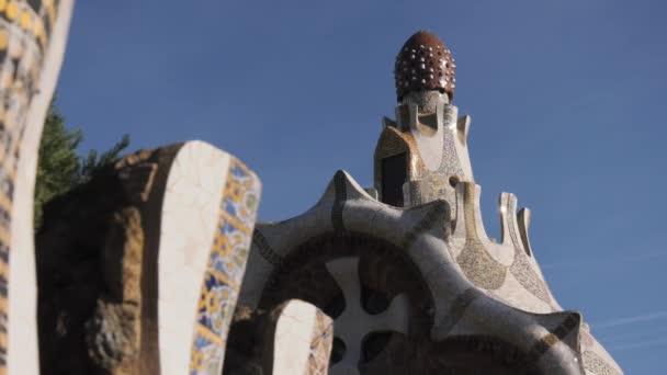 Budovy a Churc v Parc Guell Barcelona Španělsko