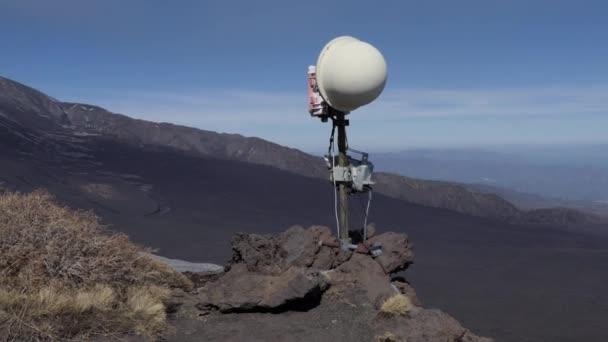 Rock Camera Surveillance : Surveillance camera to monitor eruption activity of mount etna