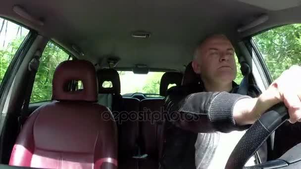 Commuter Man People Driving Car Avoiding Collision Crash Accident
