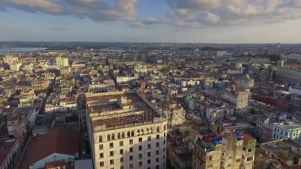 9 Aerial View Urban Landscape Old Havana Cuba Drone Flying
