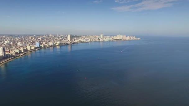 14 Aerial View Havana Skyline Caribbean Sea Cuba With Drone