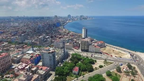 18 Aerial View Caribbean Sea Old Havana Cuba Drone Flying