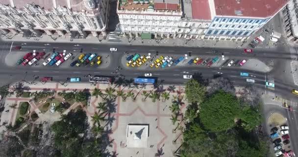 Drone Flying In The Sky Cuban Landscape Old Havana