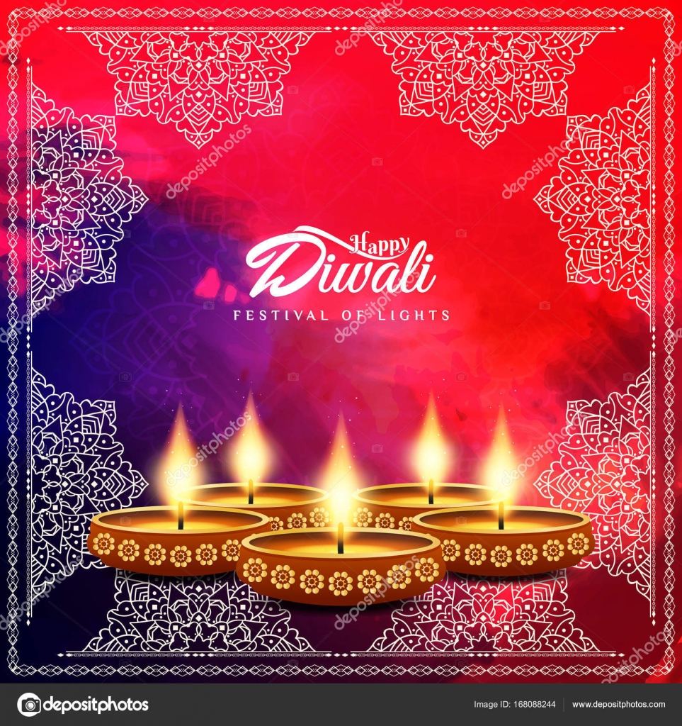 Abstract Happy Diwali Religious Background Stock Vector