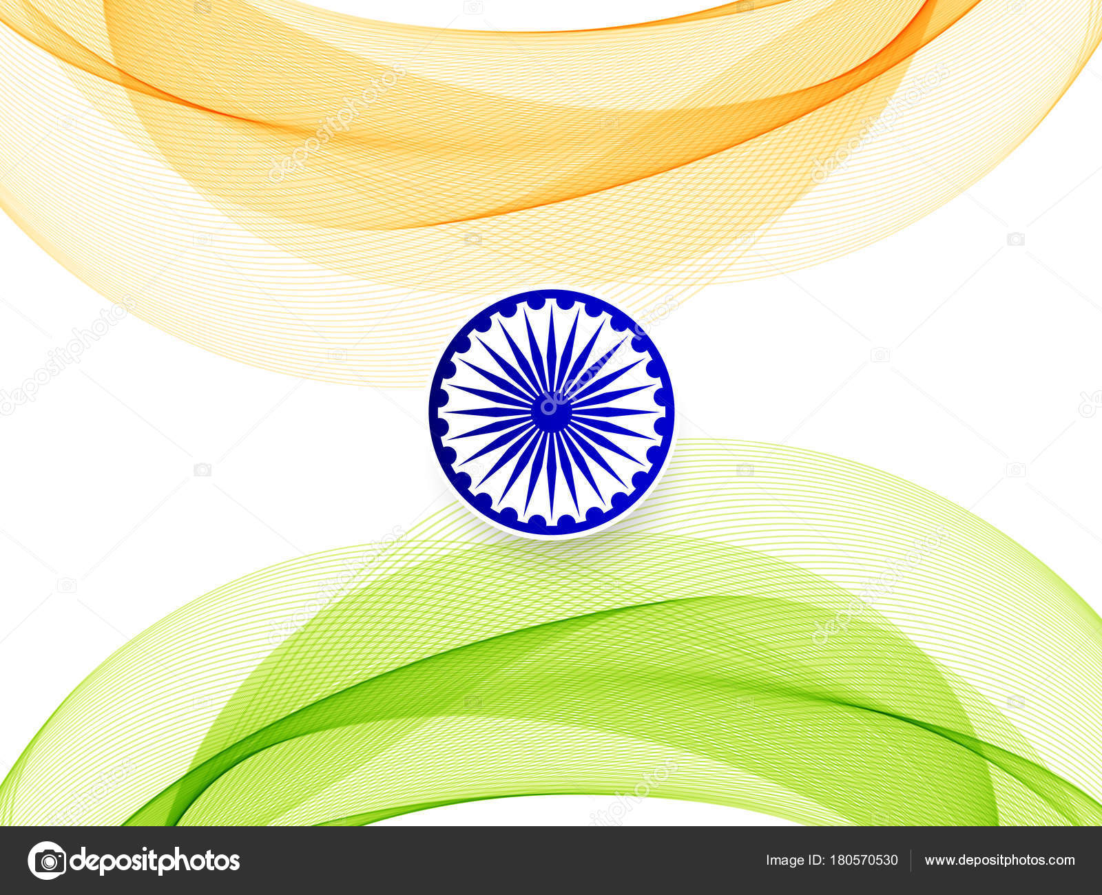 Indian Flag Theme: Abstract Indian Flag Theme Wavy Design Background