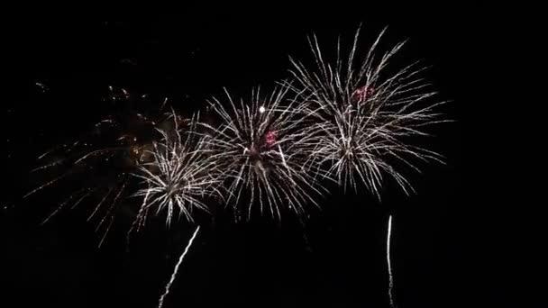Abstraktes Feuerwerk am tiefschwarzen Nachthimmel
