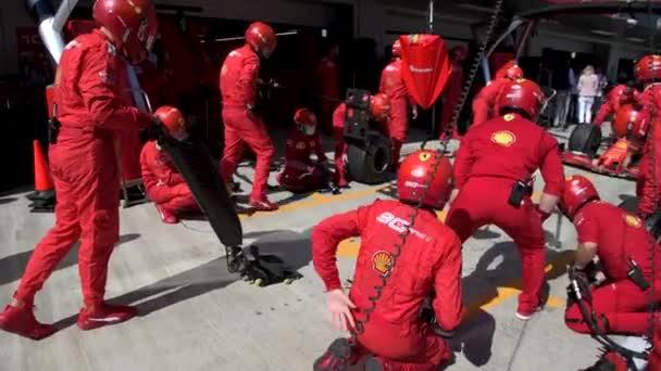 Scuderia Ferrari Formula 1 during pit stop, Russian Grand Prix 2019