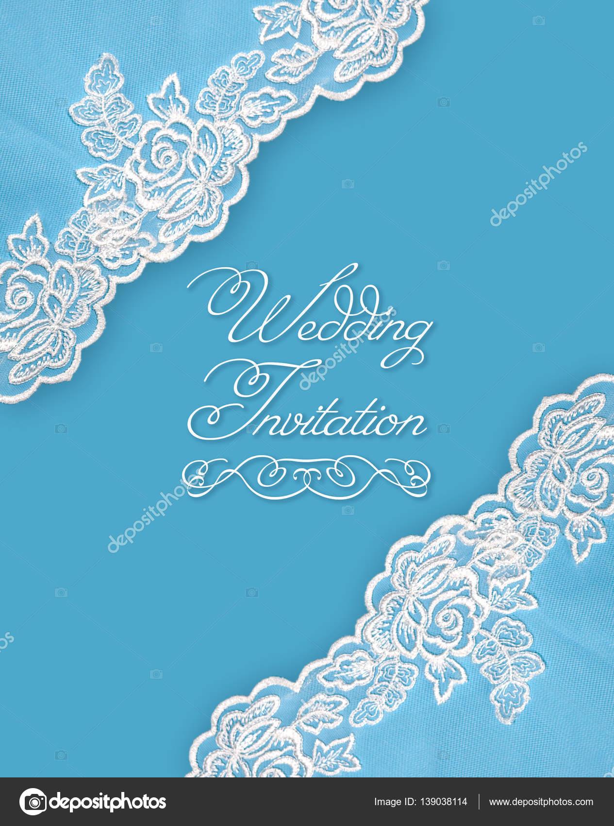Invitation greeting or wedding card — Stock © oksanello