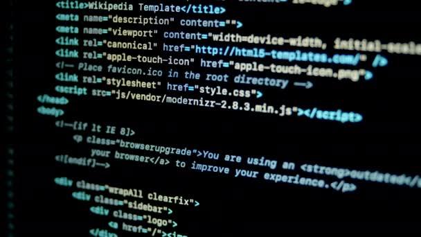 Scroll Html programozási kód laptop képernyőn