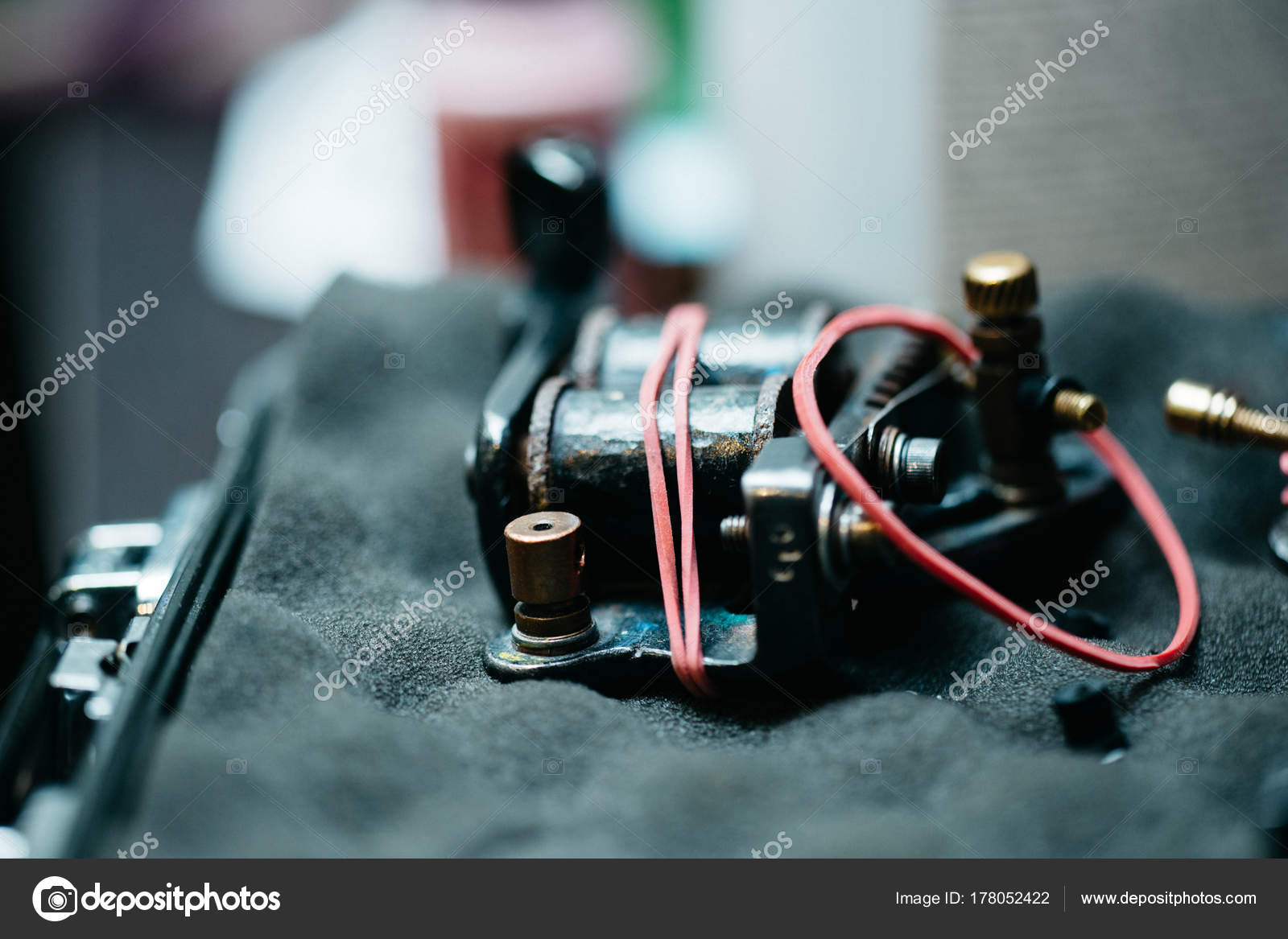 Tattoo equipment stock photo malyuginphoto 178052422 professional making tattoo in salon close up tattoo machine tattoo equipment photo by malyuginphoto solutioingenieria Gallery