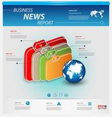 üzleti infographic sablon