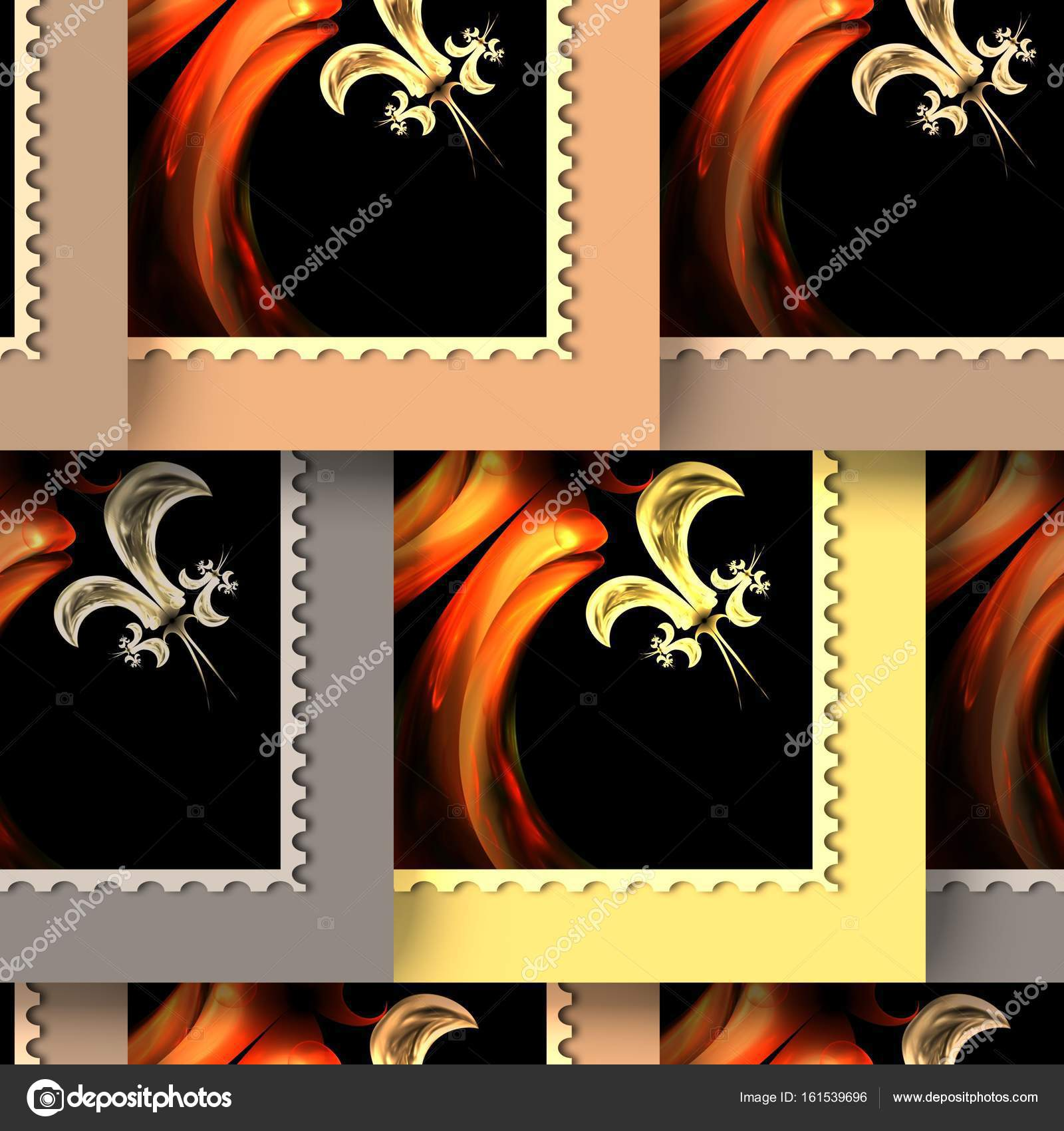 Background Seamless Tile With Embossed Fractal Stamp Pattern On Leather Photo By