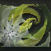 3D Render Blätterteig Pixel Fraktale Hintergrund