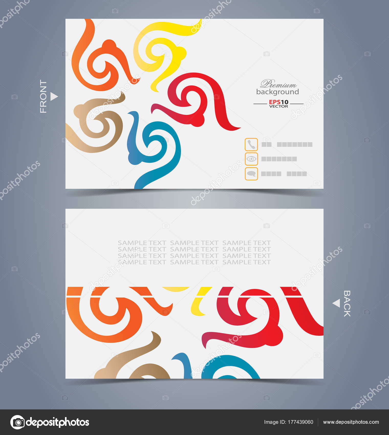 Elegant business card design template — Stock Vector © stocklady36 ...
