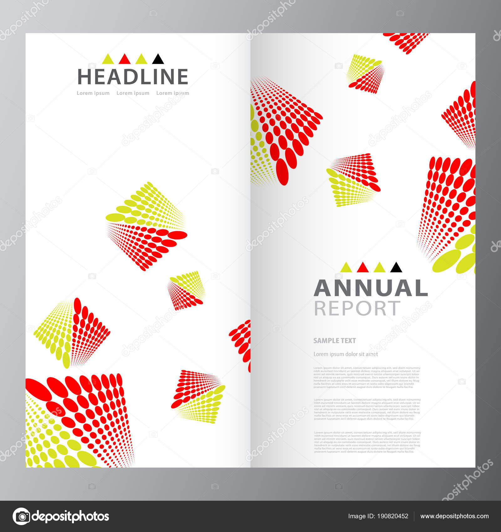 annual business report template stock vector stocklady36 190820452
