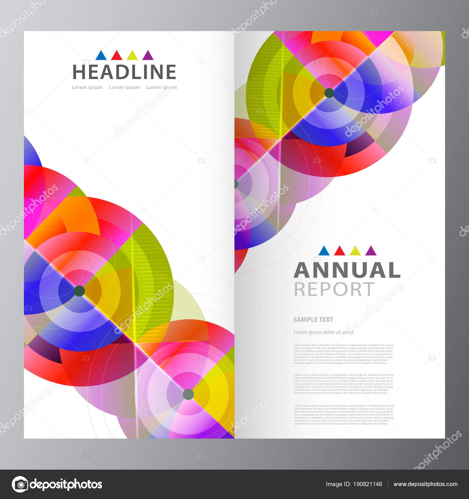 Annual Business Report Template Stock Vector Stocklady36 190821146