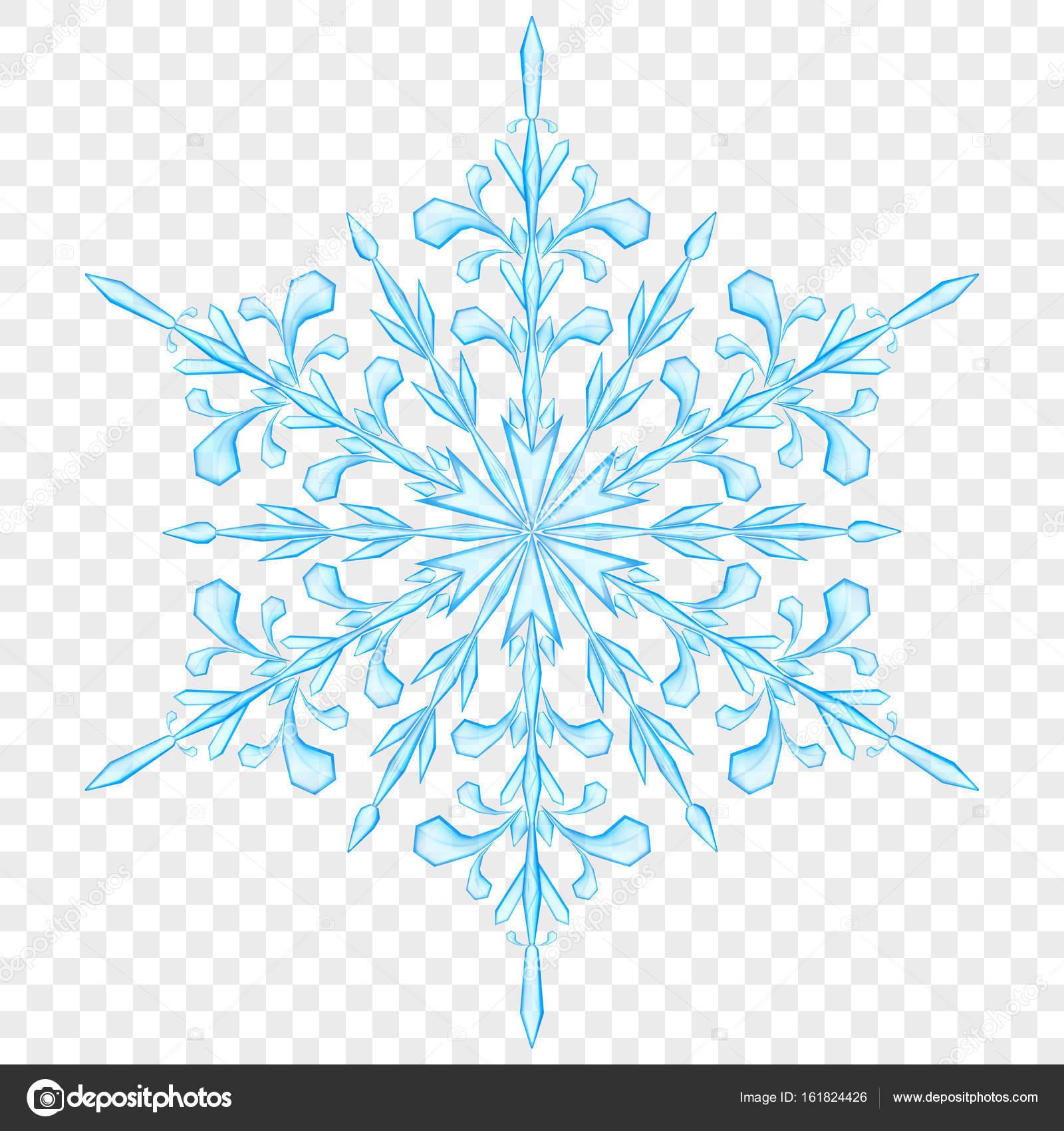 Большие полупрозрачные Рождество снежинки — стоковый вектор