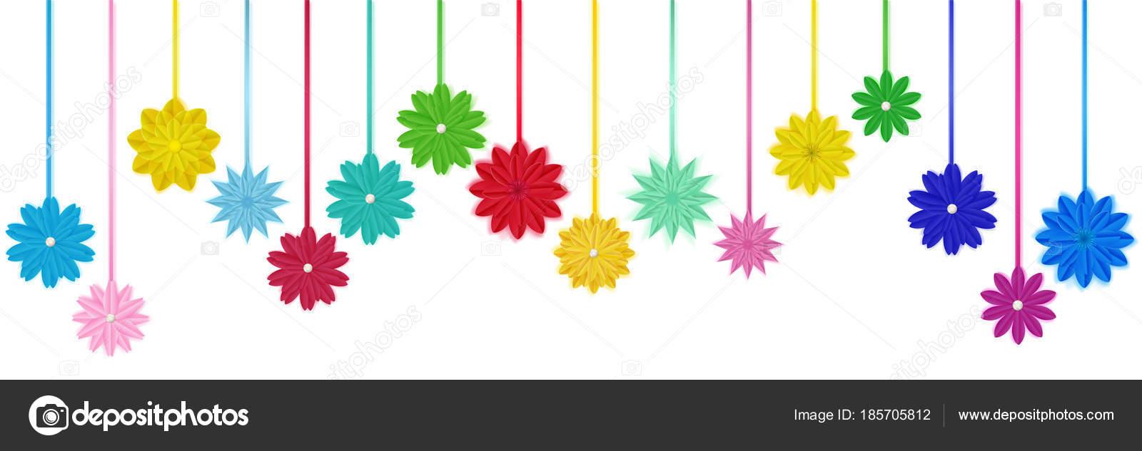 Hanging paper flowers stock vector 31moonlight31 185705812 hanging paper flowers stock vector mightylinksfo