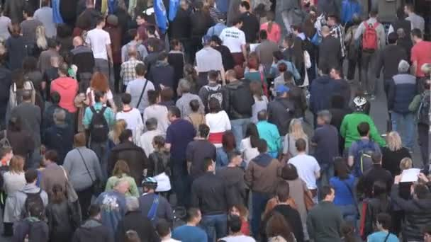 People walking on Student protest rally in Belgrade