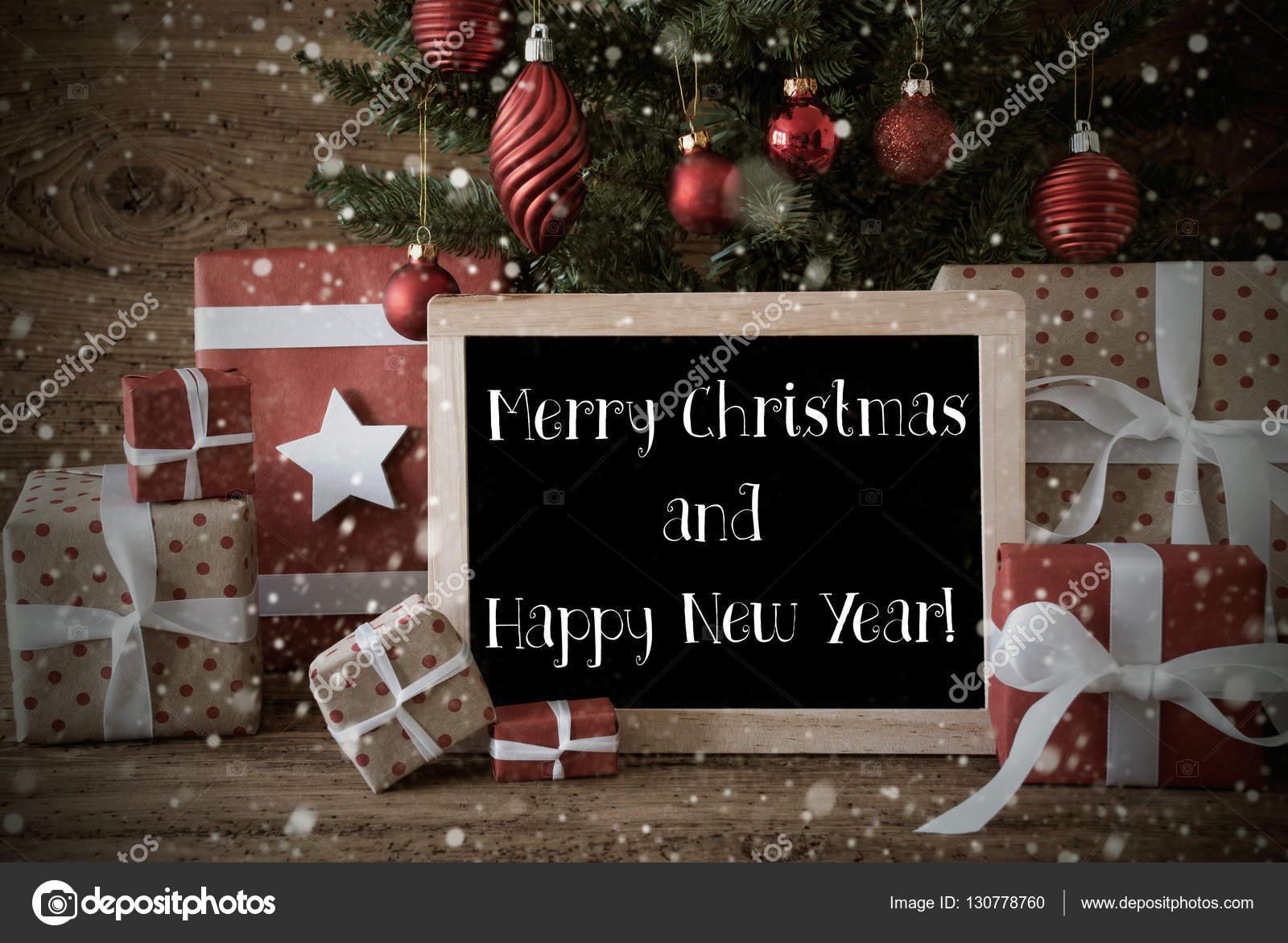 Citaten Kerst En Nieuwjaar : Nostalgische boom kerstmis en nieuwjaar sneeuwvlokken u stockfoto