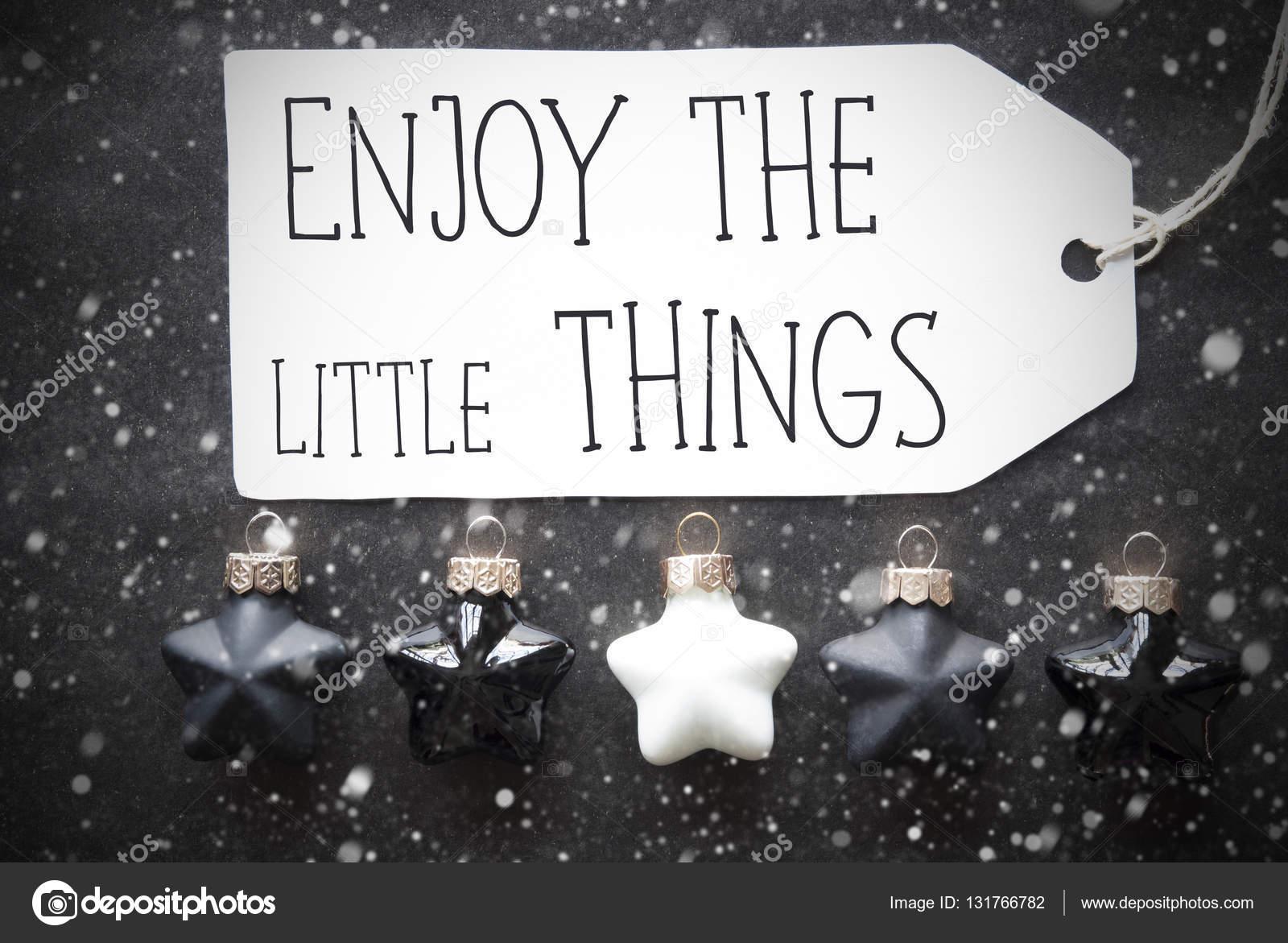 Boules De Noël Noir Flocons De Neige Citation Apprécier