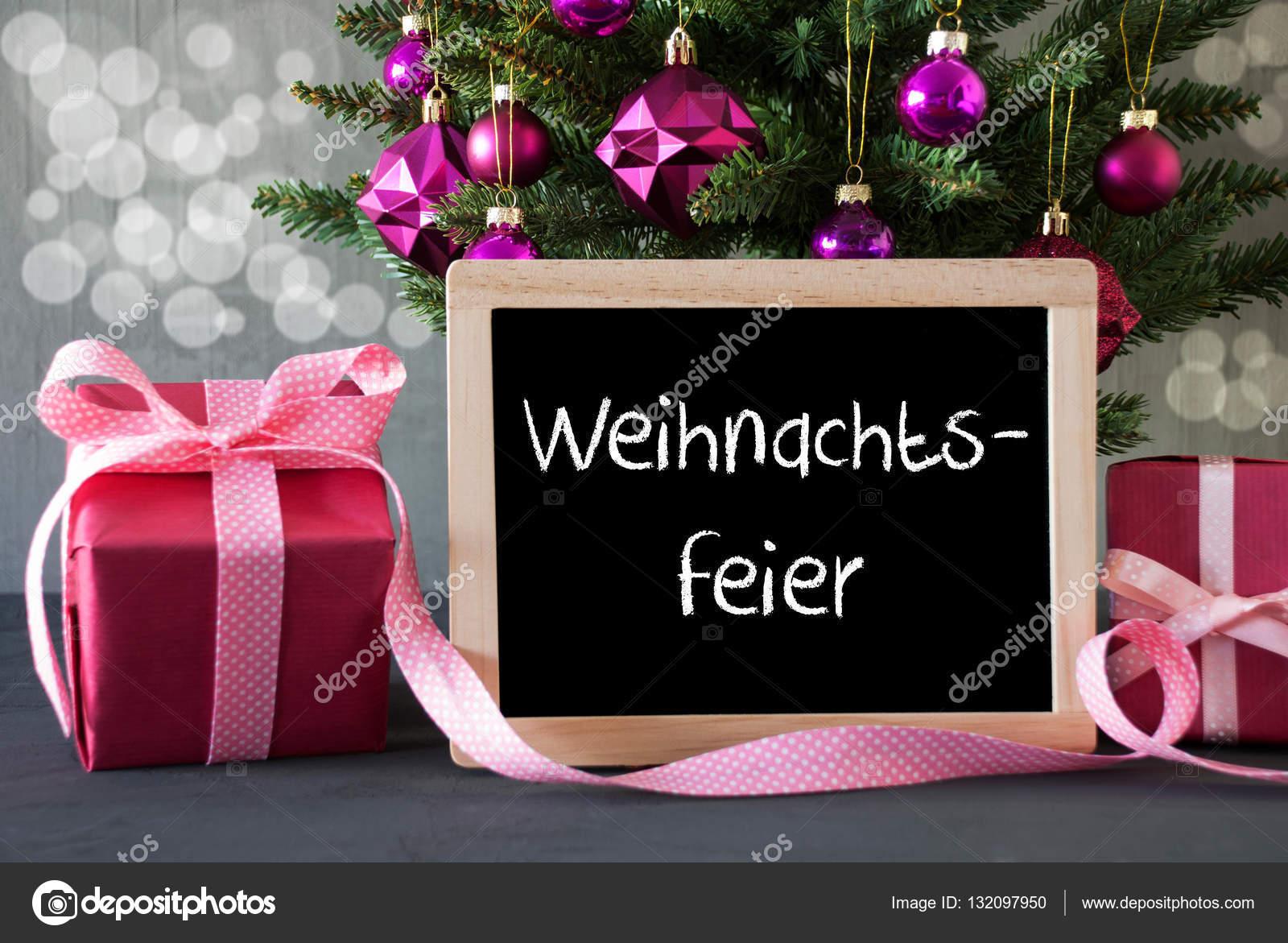 Baum mit Geschenken, Bokeh, Weihnachtsfeier Mittel Weihnachtsfeier ...