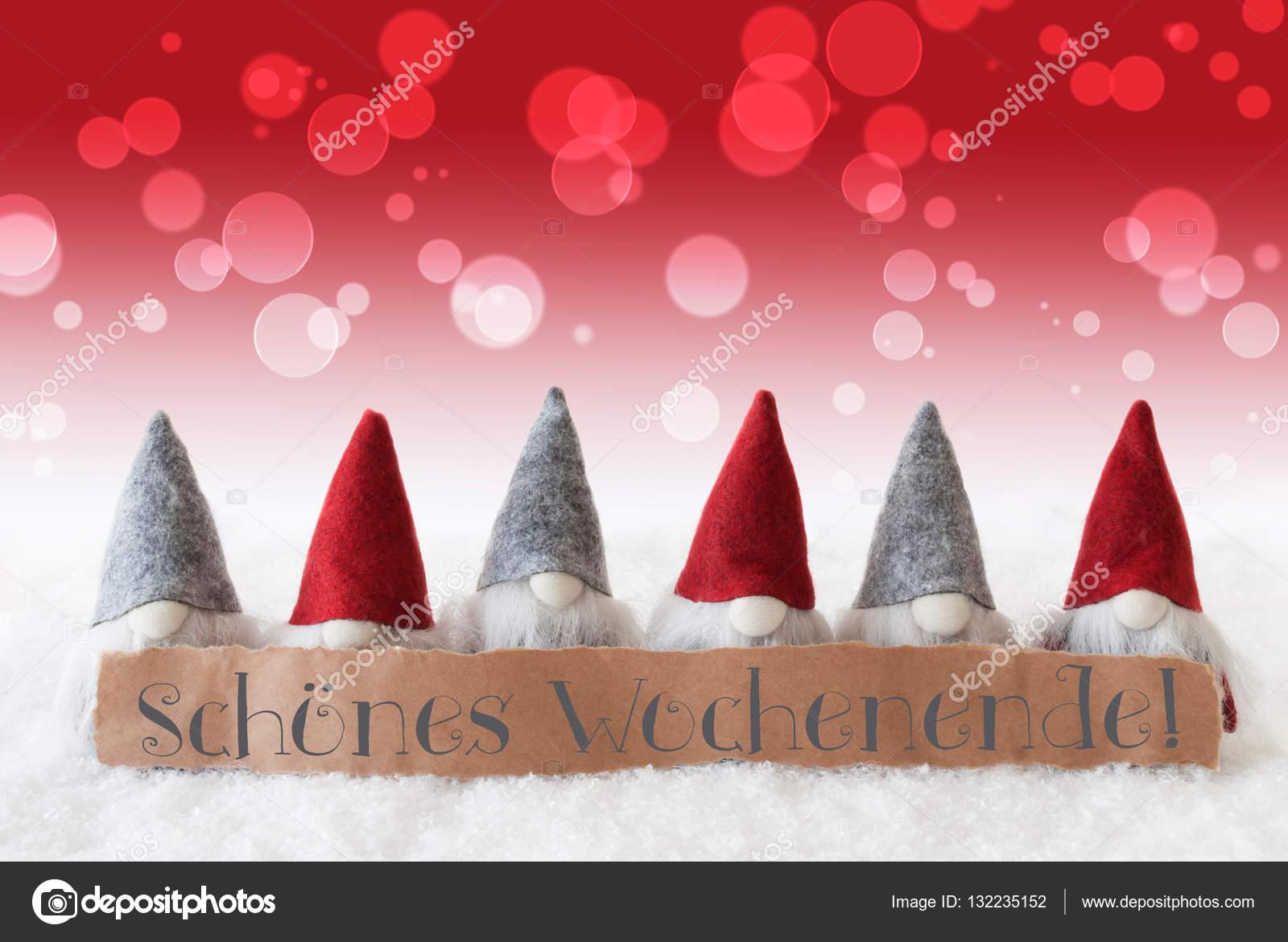 Auguri Matrimonio In Tedesco : Gnomi sfondo rosso bokeh schoenes wochenende significa
