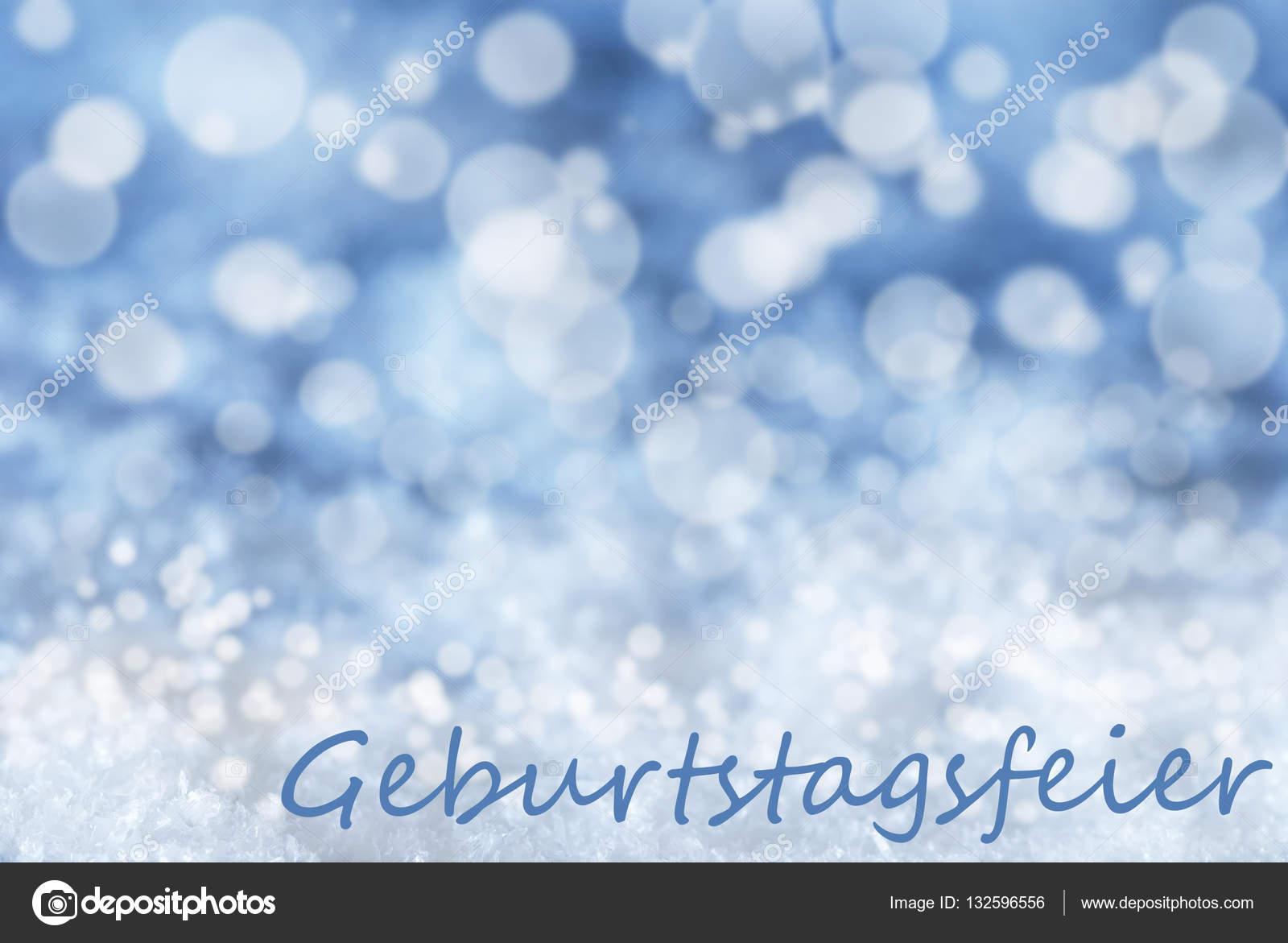 Blaue Bokeh Hintergrund Schnee Geburtstagsfeier Bedeutet