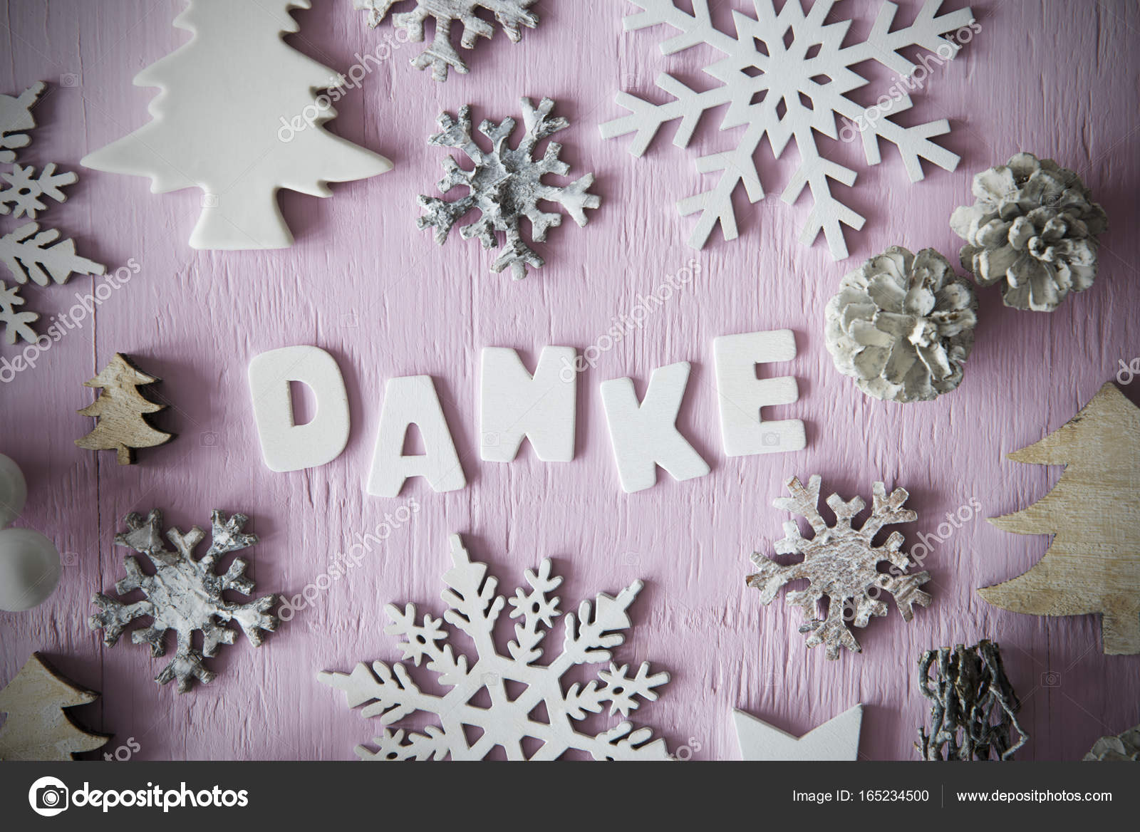 Boże Narodzenie Płaskie Lay Litery Oznacza Danke Dziękujemy Ramki