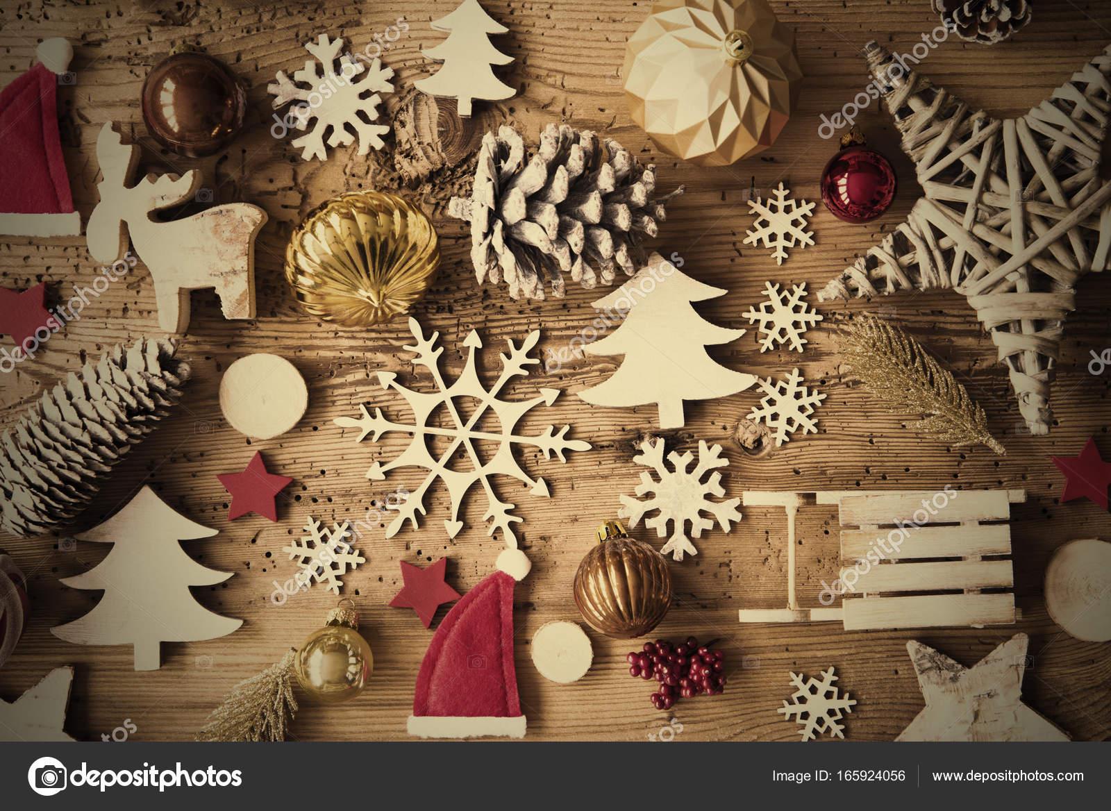 Rustikale Weihnachten flach lag, Instagram Filter, Rahmen ...