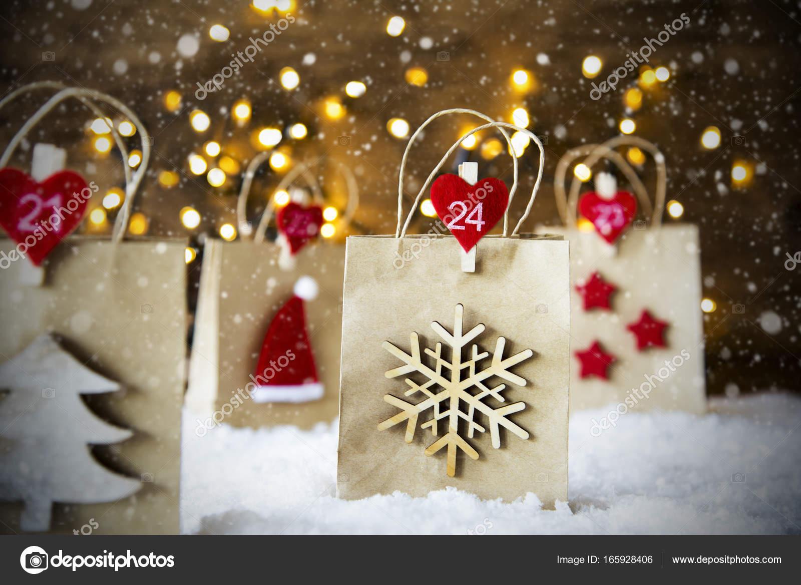 comprare on line le migliori scarpe prestazione affidabile Cappello di Babbo Natale Shopping Bag, fiocchi di neve ...