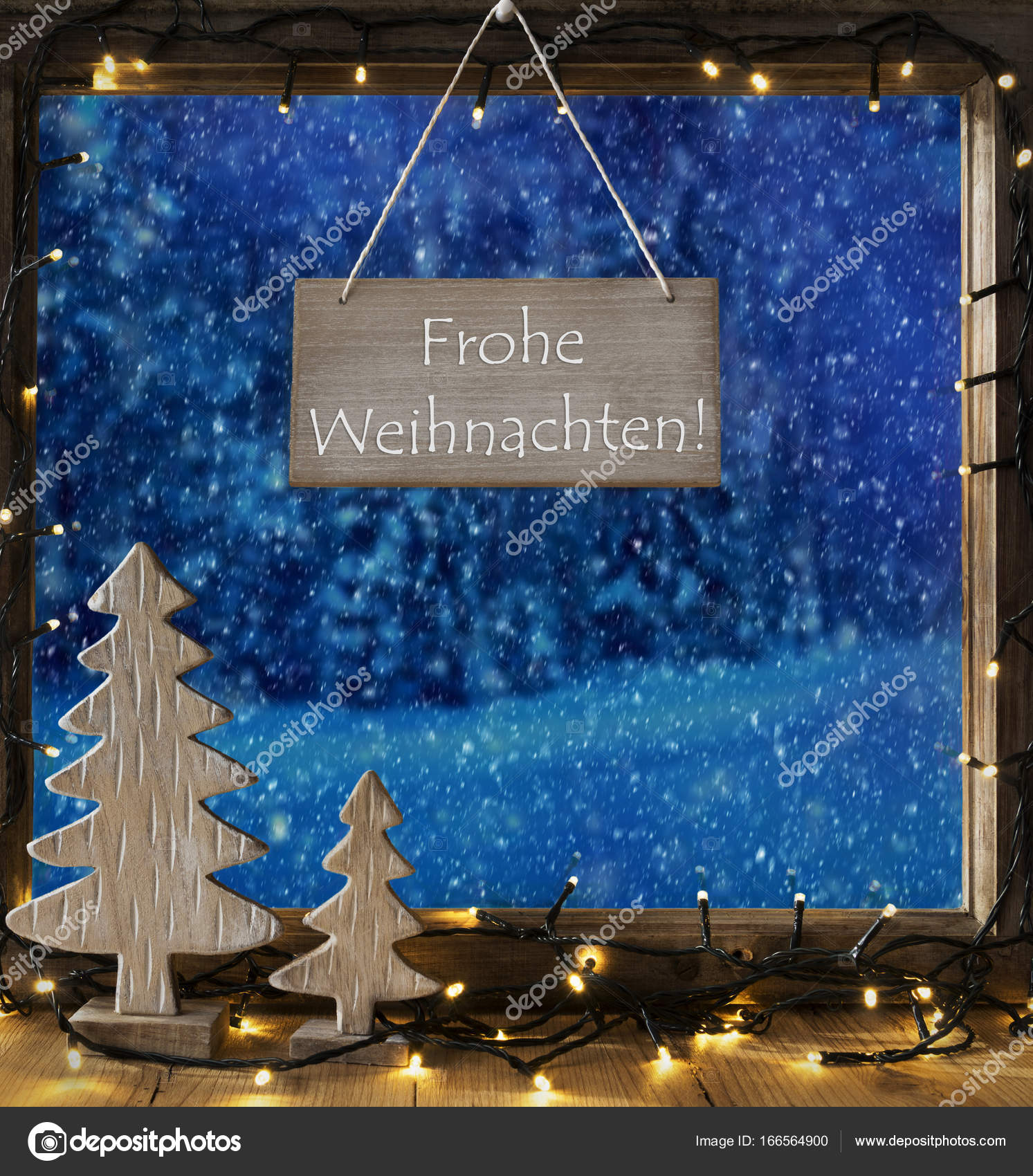 Fenster, Winterwald, Frohe Wohnaccesoires bedeutet Frohe Weihnachten ...