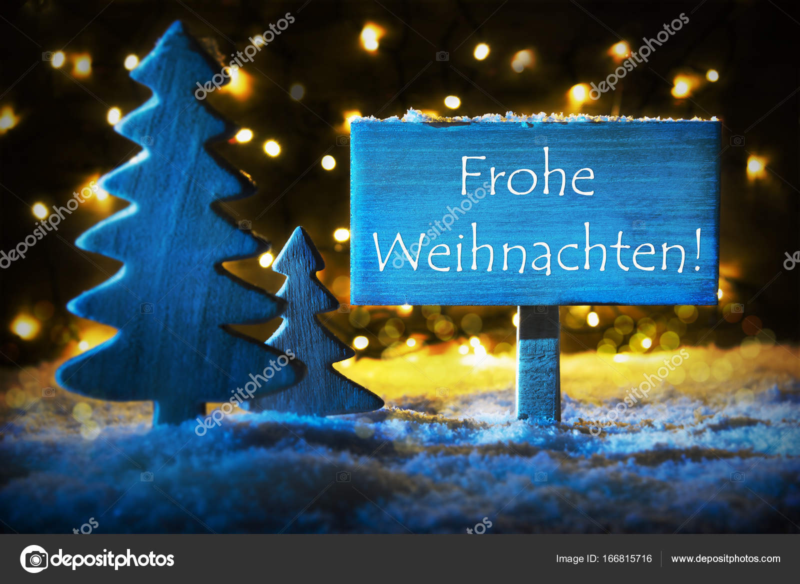 blue tree frohe weihnachten means merry christmas stock. Black Bedroom Furniture Sets. Home Design Ideas