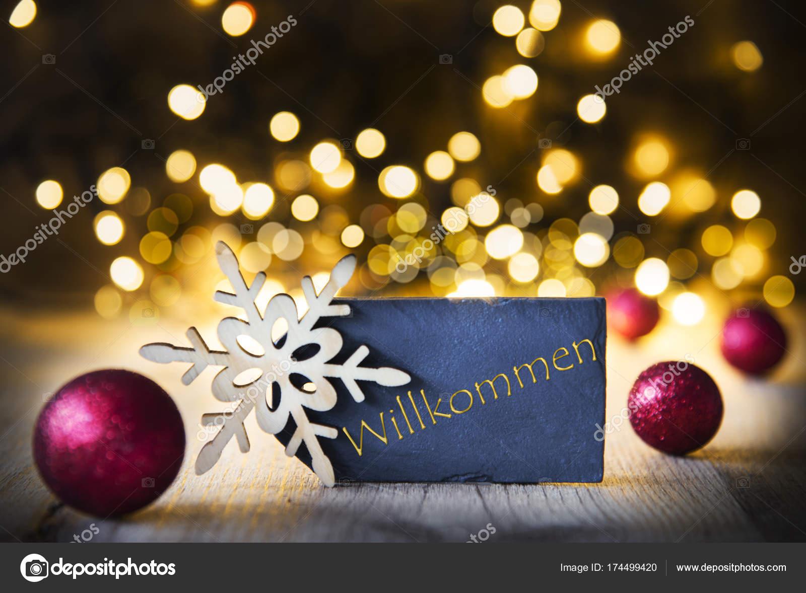 Weihnachten Hintergrund leuchtet, Willkommen heißt willkommen ...