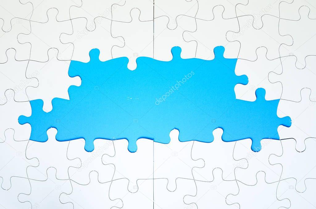marco de piezas de Puzzle — Fotos de Stock © shahril #130019402
