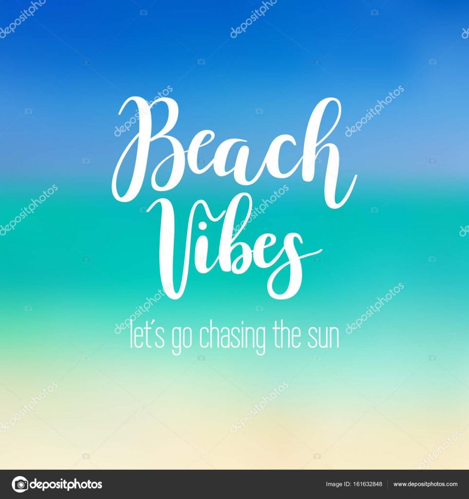 Frases Playa Relax Caligrafía De Playa Vibes Vector De