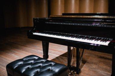 Beautiful close-up of piano keys
