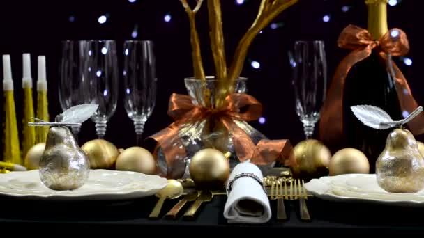 Szilveszteri party vacsora asztal
