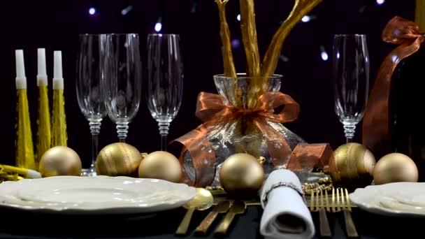 Silvestrovská párty stolu