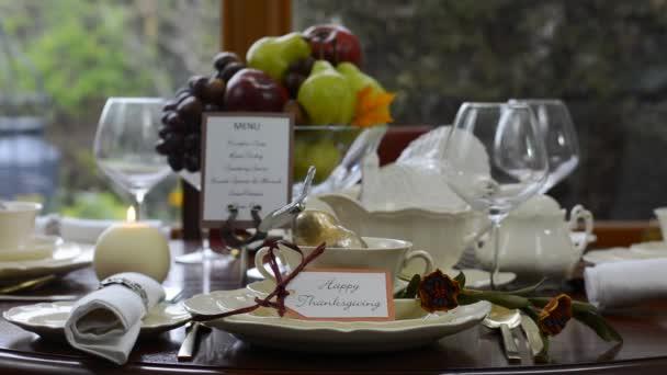 Elegant formal Thanksgiving table