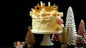 2018 boldog új évet showstopper torta