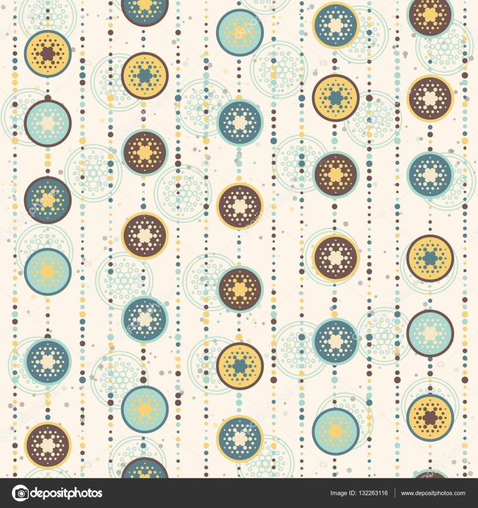 Patrón de Navidad Retro, círculos y estrellas Resumen — Vector de ...