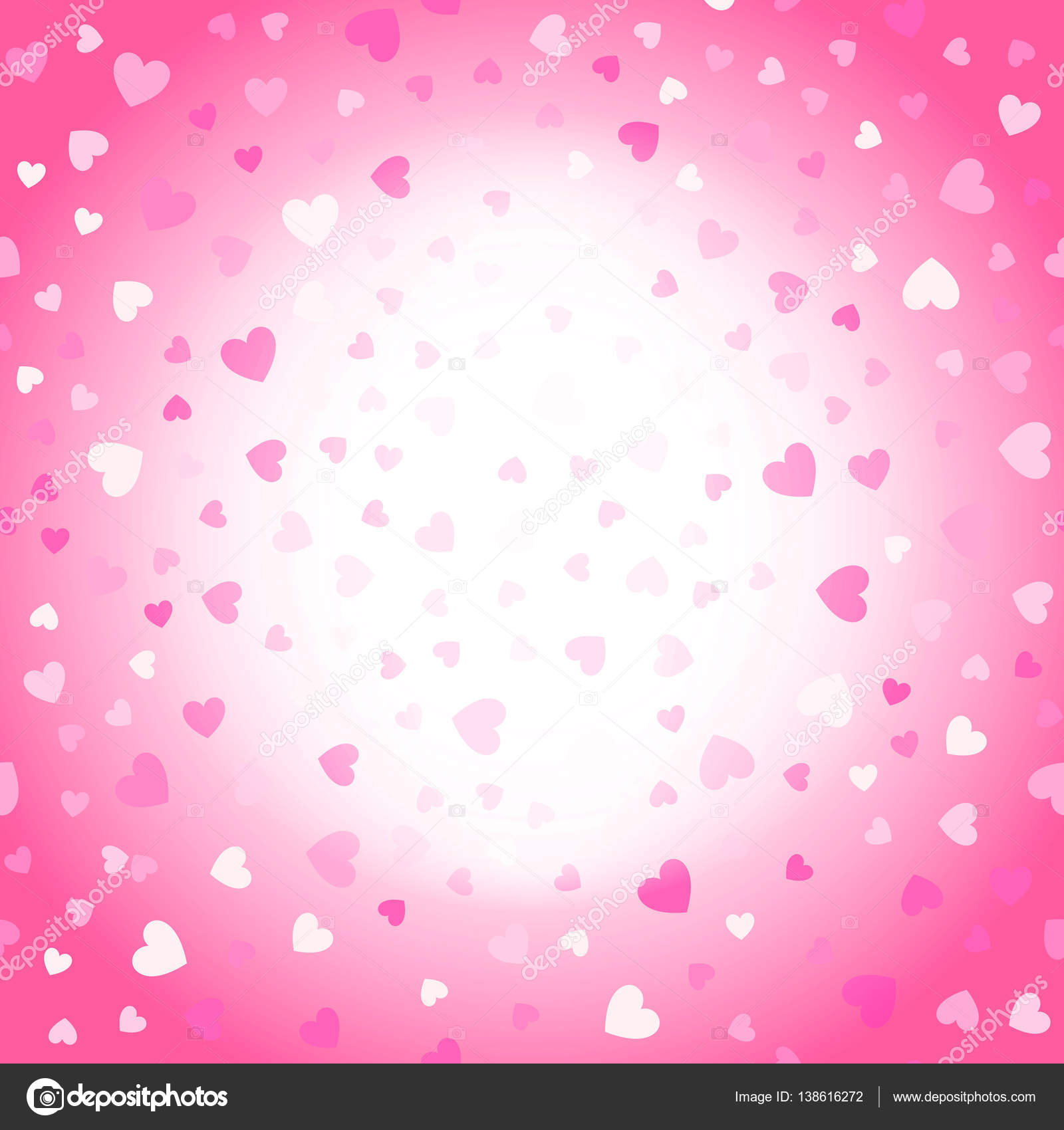 Valentines Background Pink And White Hearts Stock Vector