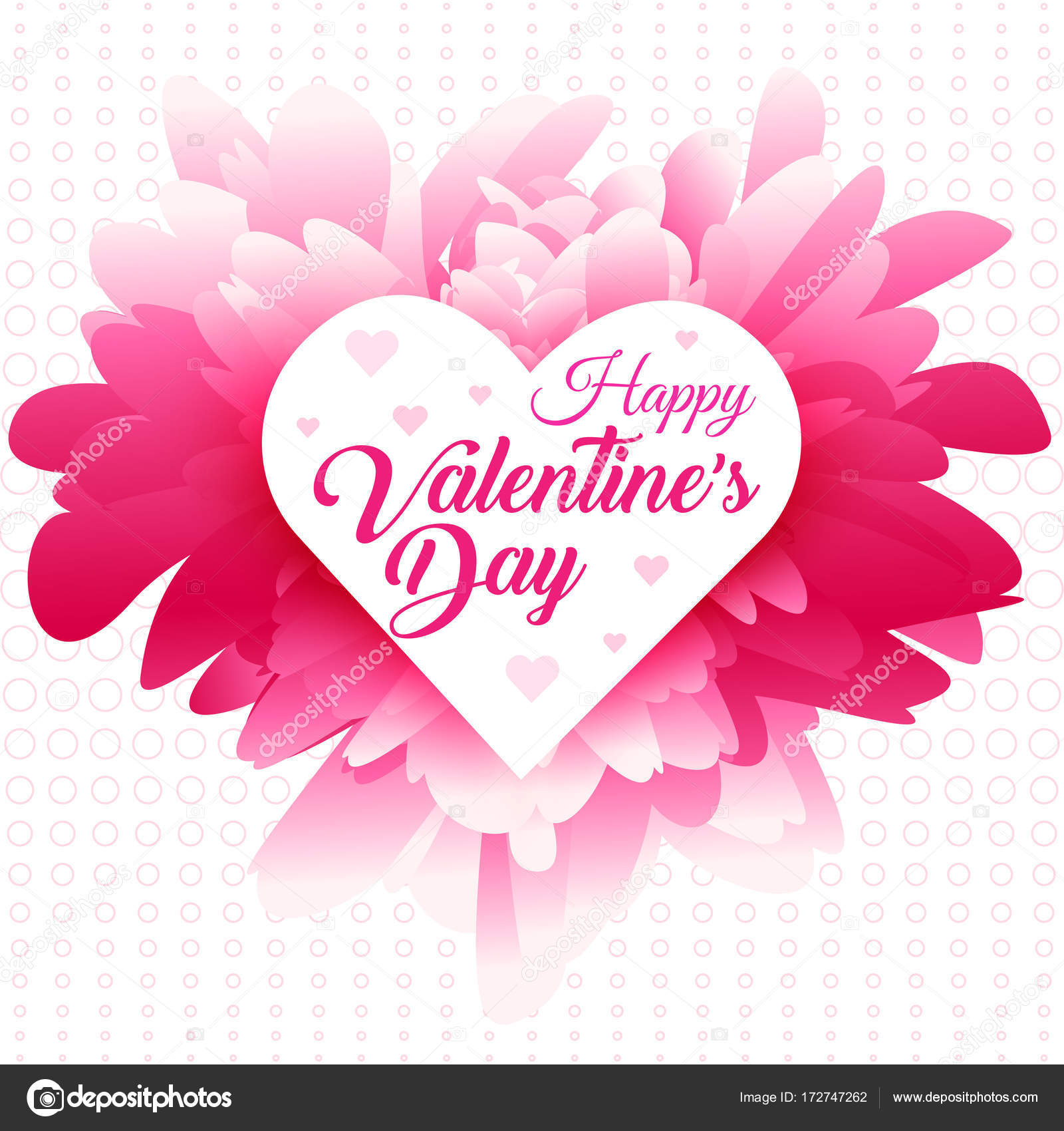 Valentines Greeting Abstract Pink Background Stock Vector