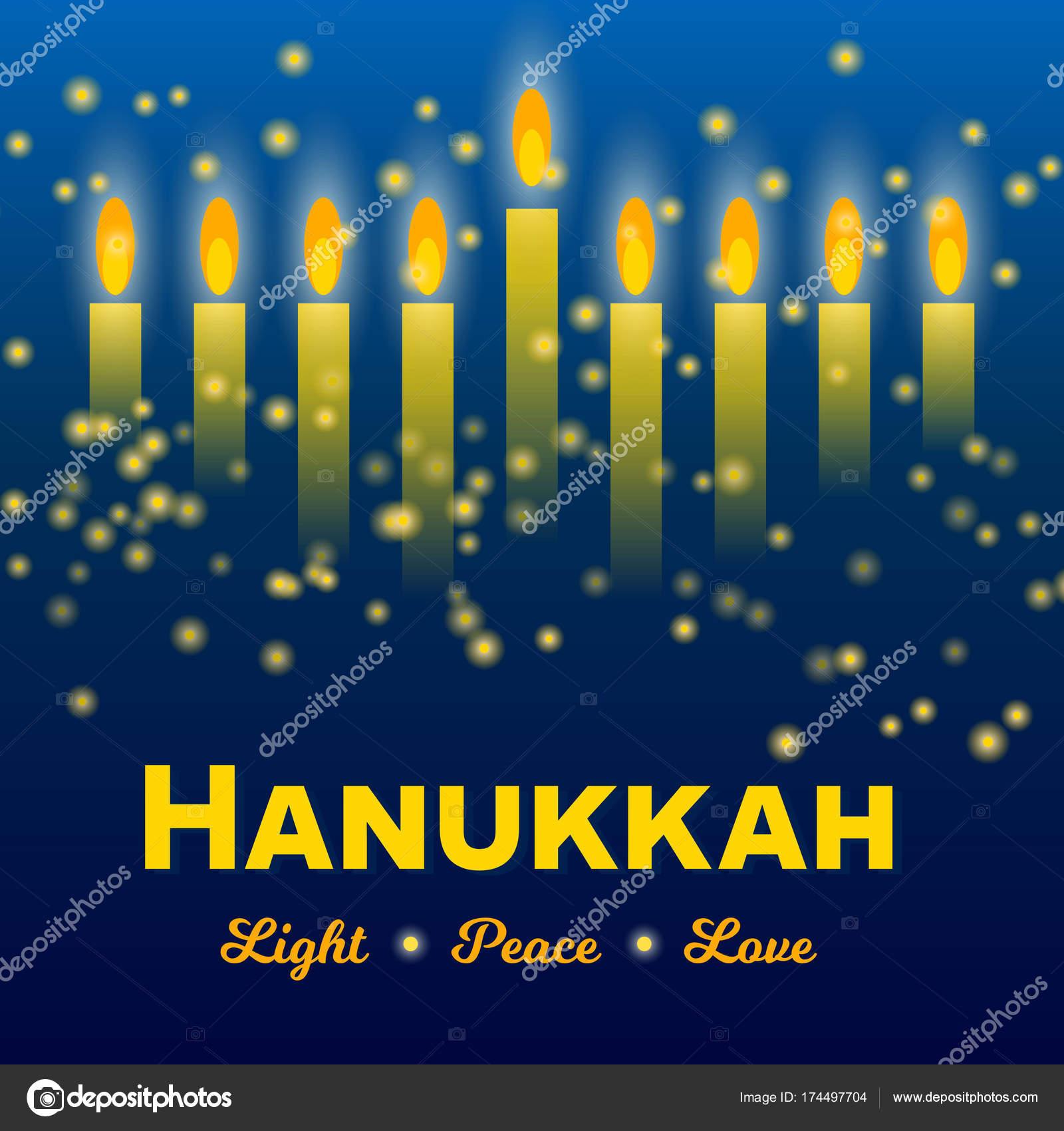 Happy hanukkah greeting card lights on dark stock vector happy hanukkah greeting card lights on dark stock vector m4hsunfo