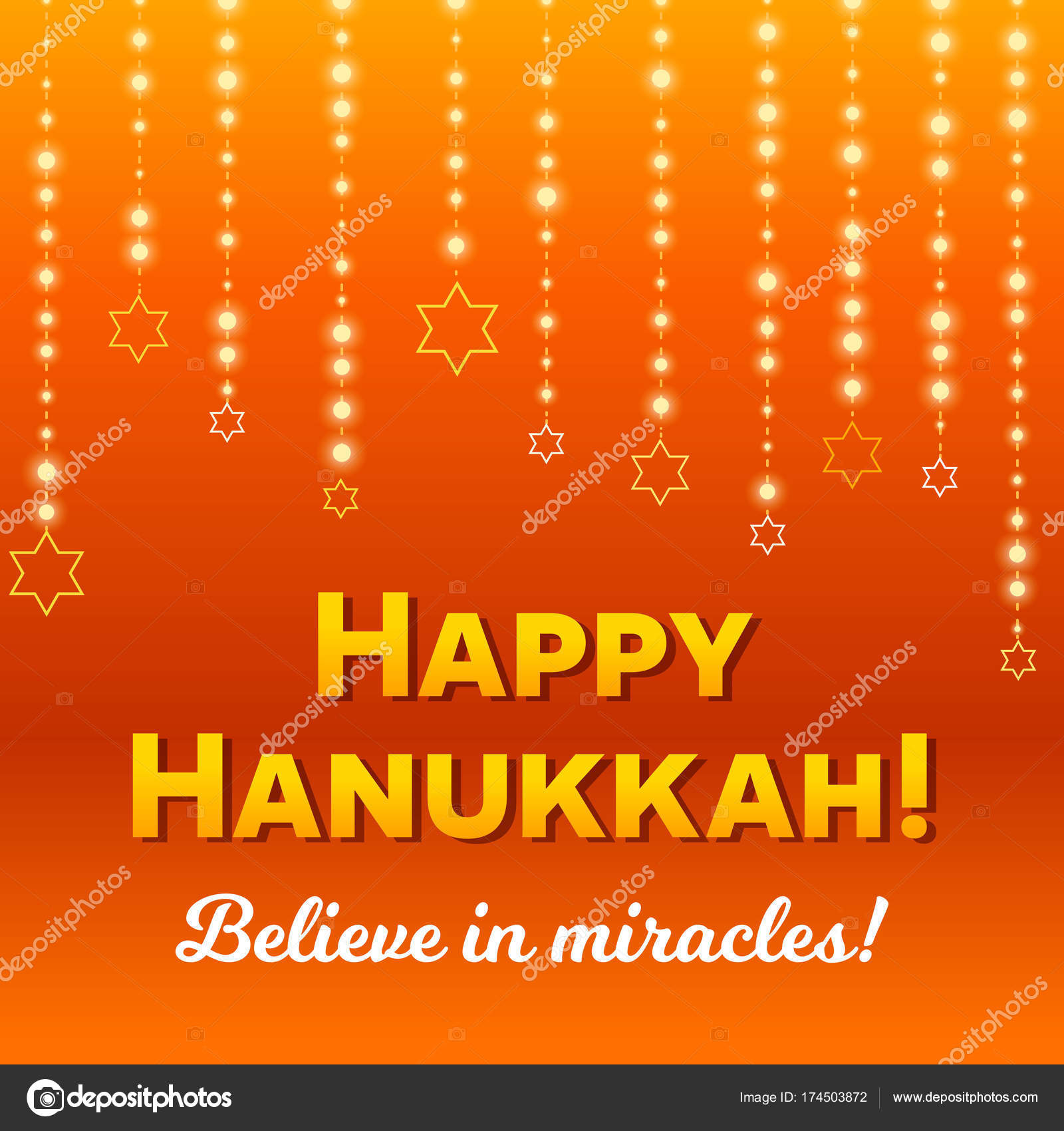Happy hanukkah greeting card lights on dark stock vector happy hanukkah greeting card lights on dark stock vector m4hsunfo