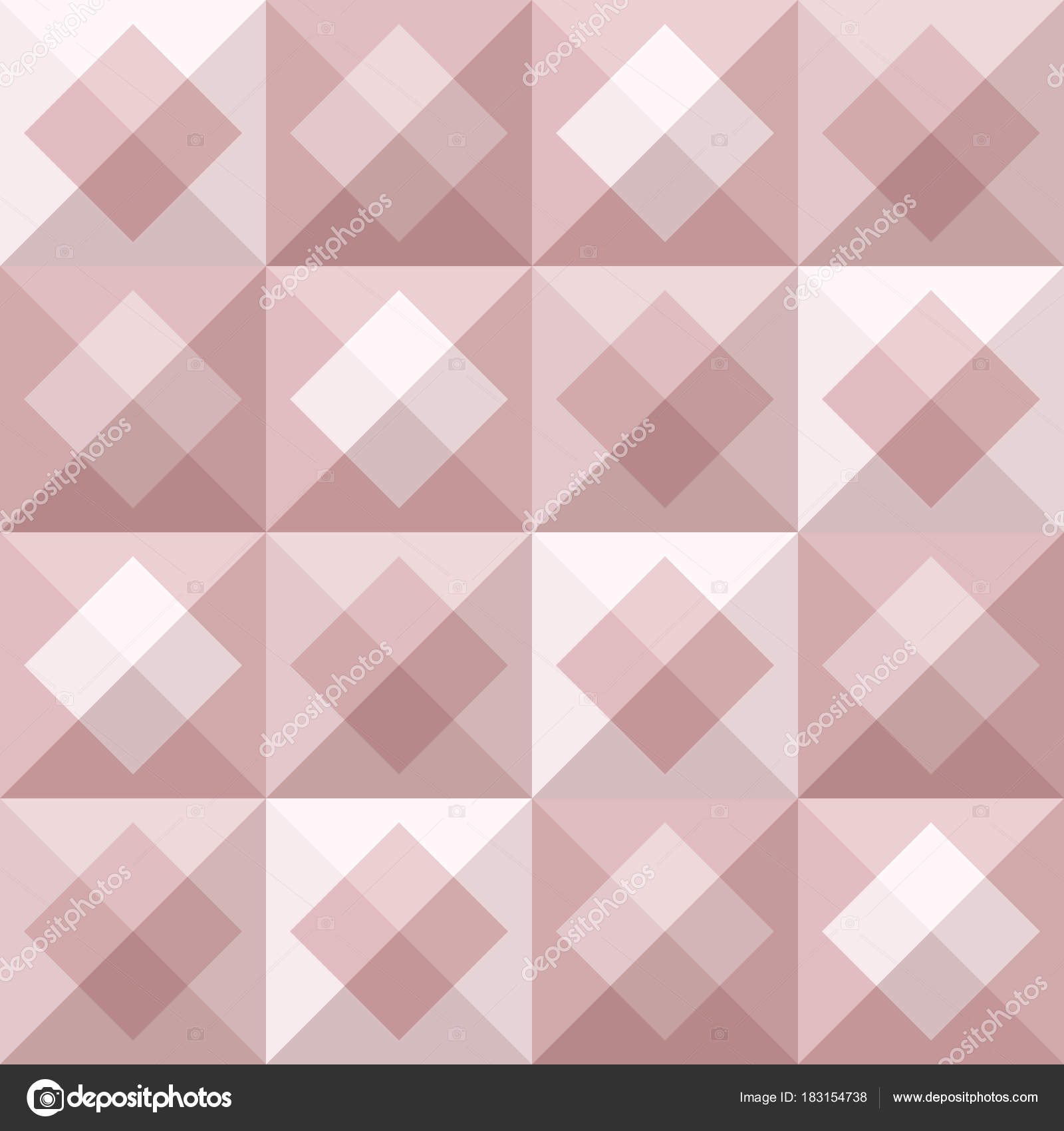 Abstract Geo Pattern In Blush Pink Colors Stock Vector